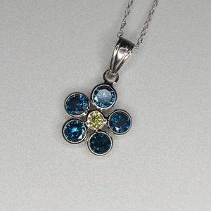 1.2cttw Blue Diamond necklace